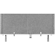 Schreibtisch-Akustik-Trennwand BE Safety Screen U-Form, ohne Acrylfenster, Dicke 10 mm, B 140 x T 80 x H 60 mm, hellgrau