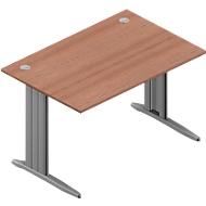 Schreibtisch ARLON-OFFICE, B 1200 x T 800 x H 730 mm, Nuss-Canaletto