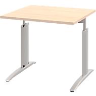 Schreibtisch BARI, Rechteck, Form A, C-Fuß, B 800 x T 800 mm, Ahorn-Dekor