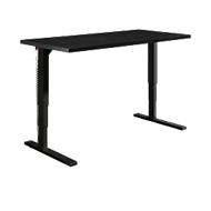 Schreibtisch Elements, elektrisch höhenverstellbar, B 1600 mm, C-Fuß, schwarz