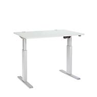 Schreibtisch ERGO-T, T-Fuß, 1-stufig elektr. höhenverstellbar, B 1200, 1600, 1800 mm, lichtgrau