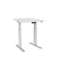 Schreibtisch ERGO-T, T-Fuß, manuell höheneinstellbar, B 800 mm, lichtgrau