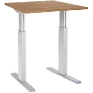 Schreibtisch ERGO-T, T-Fuß, manuell höheneinstellbar durch Imbusschlüssel, B 800 mm, Kirsche Romana