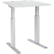 Schreibtisch ERGO-T, T-Fuß, manuell höheneinstellbar durch Imbusschlüssel, B 800 mm, lichtgrau