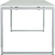 Schreibtisch, höheneinstellbar, Rechteckform, Bügelfüß, Breite 1200 mm, lichtgrau