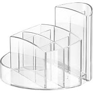 Schreibtisch-Köcher RONDO, glasklar