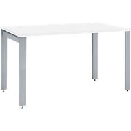 Schreibtisch LOGIN, 4-Fuß, Rechteck, B 1200 x T 800 x H 740 mm, weiß