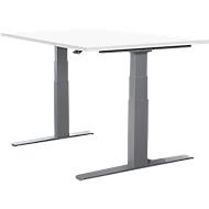 Schreibtisch LOGIN, elektrisch höhenverstellbar, T-Fuß-Gestell, B 1200 x T 800 x H 645 - 1290 mm, weiß