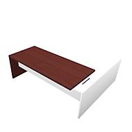 Schreibtisch mit Sideboard X-TIME-WORK, Wange, Rechteck, links, B 2200 x T 2200 x H 730 mm, Wenge-Dekor