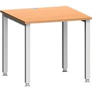 Schreibtisch MODENA FLEX, 4-Fuß-Quadratrohr, B 800 x T 800, Buche