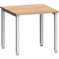 Schreibtisch MODENA FLEX, 4-Fuß-Quadratrohr, B 800 x T 800, Kirsche-Romana