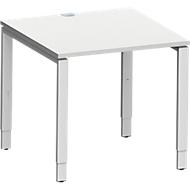 Schreibtisch MODENA FLEX, 4-Fuß-Rechteckrohr, 800 x 800 mm, lichtgrau