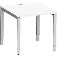 Schreibtisch MODENA FLEX, 4-Fuß-Rechteckrohr, 800 x 800 mm, weiß