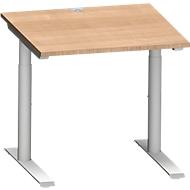 Schreibtisch MODENA FLEX, 800 x 800 mm, Kirsche Romana