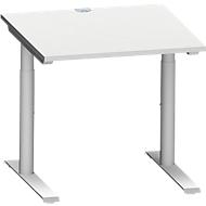 Schreibtisch MODENA FLEX, 800 x 800 mm, lichtgrau
