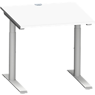 Schreibtisch MODENA FLEX, 800 x 800 mm, weiß