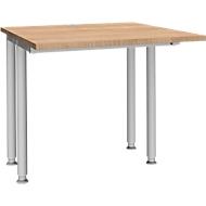 Schreibtisch MODENA FLEX, Breite 800 mm, beidseitig verkürzt, Kirsche Romana