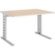 Schreibtisch Moxxo IQ, Rechteck, C-Fuß, B 1200 x T 800 x H 735 mm, Ahorn-Dekor