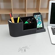 """Schreibtisch Organizer mit Qi-Schnellladefunktion """"Office Martin"""", bis 10 W, inkl. Typ-C Ladekabel, Kunstleder, schwarz"""