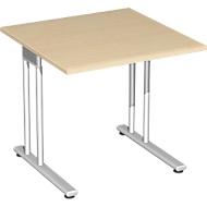 Schreibtisch PALENQUE, C-Fuß, Rechteck, B 800 x T 800 x H 720 mm, Ahorn
