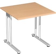 Schreibtisch PALENQUE, C-Fuß, Rechteck, B 800 x T 800 x H 720 mm, Buche