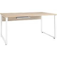 Schreibtisch Player, Kabeldurchlass und Kabelablage, Breite 1600 mm, Eiche