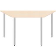 Schreibtisch PROPLANA, 4-Fuß, Trapez, 1600/800 x 720 mm, Ahorn/weißalu