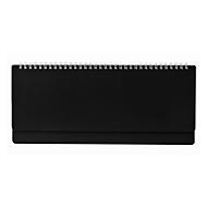 Schreibtisch-Querkalender, 112 Seiten, Wire-O-Bindung, B 305 x H 135 mm, Werbedruck 280 x 20 mm, schwarz