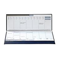 Schreibtisch-Querkalender Tucson, 120 Seiten, Wire-O-Bindung, B 300 x T 15 x H 140 mm, Werbedruck 250 x 15 mm, anthrazit