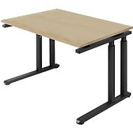 Schreibtisch SET UP, C-Fußgestell, 1200x800, eiche/graphit