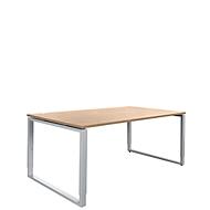Schreibtisch Sincero Line, Bügelfuß, Breite 1600 mm, höhenverstellbar, Kirsche-Romana