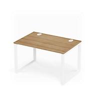 Schreibtisch SINCERO LINE, Kufengestell, Rechteck, B 1200 x T 800 mm, Kirsche Romana-D./weiß
