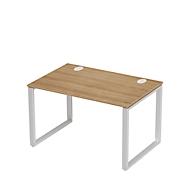 Schreibtisch SINCERO LINE, Kufengestell, Rechteck, B 1200 x T 800 mm, Kirsche Romana-D./weißalu