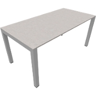 Schreibtisch SOLUS PLAY, 4-Fuß, höhenverstellbar, B 1600 x T 800 x H 720 - 820 mm, Ceramic grey