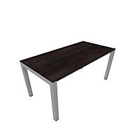 Schreibtisch SOLUS PLAY, 4-Fuß, höhenverstellbar, B 1600 x T 800 x H 720 - 820 mm, Mooreiche