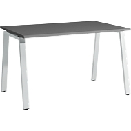Schreibtisch Start Up, A-Fuß, Rechteck, Stahl/Holz, B 1200 x T 800 x H 735 mm, graphit