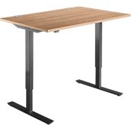 Schreibtisch START UP, einstufig elektr. höhenverstellbar, B 1200 mm, Kirsche Romana/schwarz