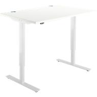 Schreibtisch START UP, einstufig elektr. höhenverstellbar, B 1200 mm, weiß/weiß