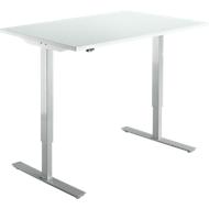 Schreibtisch Start Up, elektrisch höhenverstellbar, T-Fuß, 1200 x 800, lichtgrau