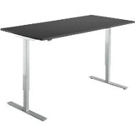 Schreibtisch Start Up, elektrisch höhenverstellbar, T-Fuß, B 1600 x T 800 mm, graphit