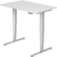 Schreibtisch ULM, elektrisch, höhenverstellbar, B 1200 mm, weiß