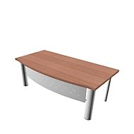 Schreibtisch X-TIME-WORK, 4-Fuß, Bogen, B 2000 x T 900 x H 740 mm, Nuss-Canaletto-Dekor/Weiß