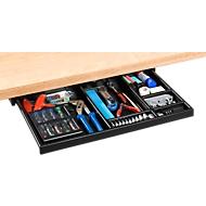 Schreibtischcontainer Unterbau-Utensilienauszug, schwarz