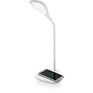 Schreibtischlampe, weiß, 40 LEDs, 3 Lichtmodi, Wireless 5W Lade-Pad