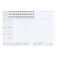 Schreibtischunterlage, 50 Seiten, ohne Kunststoffleiste, B 600 x H 400 mm, Werbedruck 210 x 90 mm