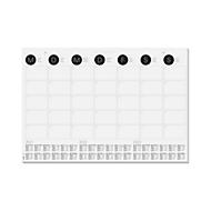 Schreibtischunterlage Sigel Monatsübersicht, ca. DIN A2, 3-Jahreskalendarium, 12 Blatt, auch als Wandkalender nutzbar, s/w