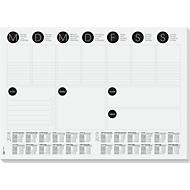 Schreibtischunterlage Sigel Wochenplan 2-Jahreskalendarium, A3, Papier, 30 Blatt, To-Do-Liste uvm., s/w