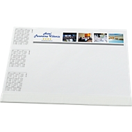 Schreibunterlage mit Fußleiste, inkl. 4c-Werbe-Druck