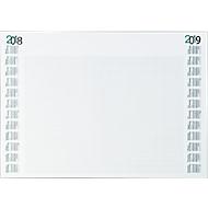 Schreibunterlage, mit Kalendarium 2017+2018, schwarz/grün
