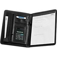 Schrijfmap met uitneembare zakrekenmachine, A4-schrijfblok, gelinieerd
